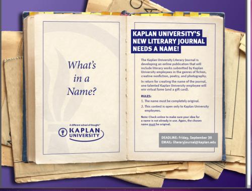 Kaplan University's New Literary Journal Needs a Name!