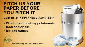 Writing center ad by John Lauckner, Michigan State University