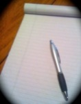 Pen and blank paper, (c) 2011 Jupiterimages