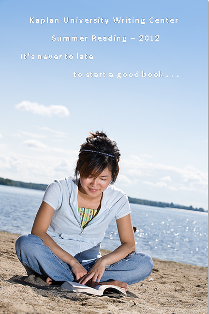 girl reading on beach. (c) 2012 Jupiterimages