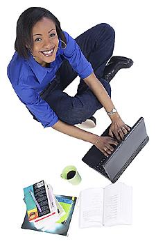 Girl Looking at Laptop