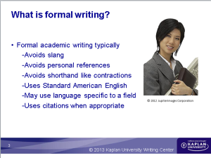 Reasons for formal writing