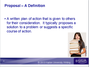 Proposal Definition from workshop