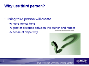 Why use third person