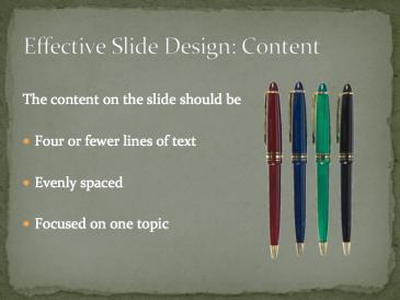 Effective Slide Design