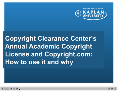Annual Academic Copyright License Video