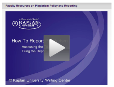 How to Report Plagiarism