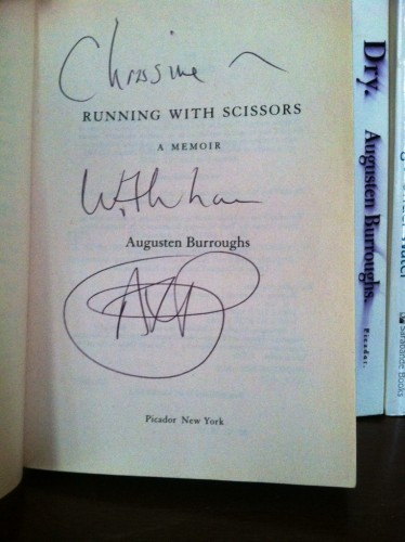 Running With Scissors, Signed Copy